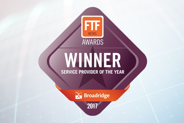 Broadridge Wins Service Provider of the Year at the FTF News Technology Innovation Awards