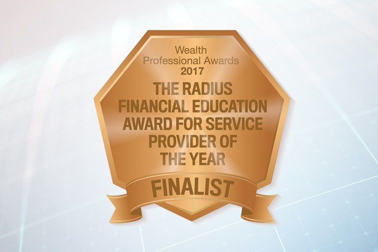 The radius financial education award for service provider of the year