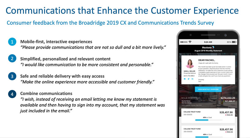 Communications that enhance the customer experience
