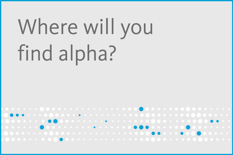 Where will you find alpha