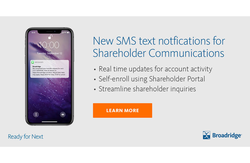 Modernize shareholder communication