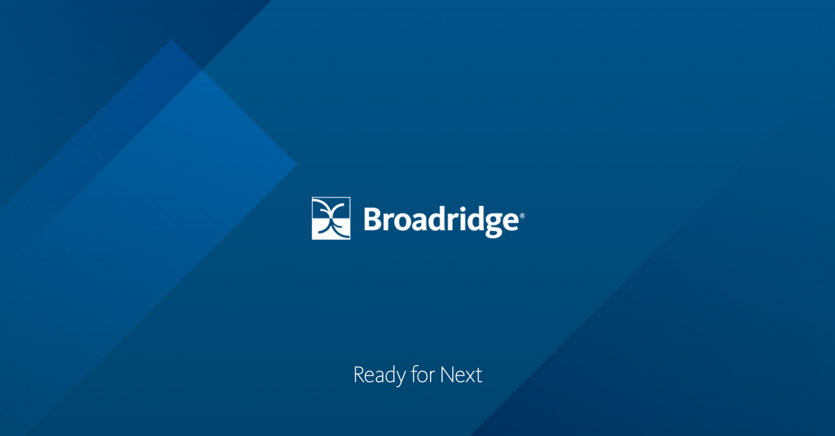 Broadridge - Technology & Operations, Communications, Data Analytics