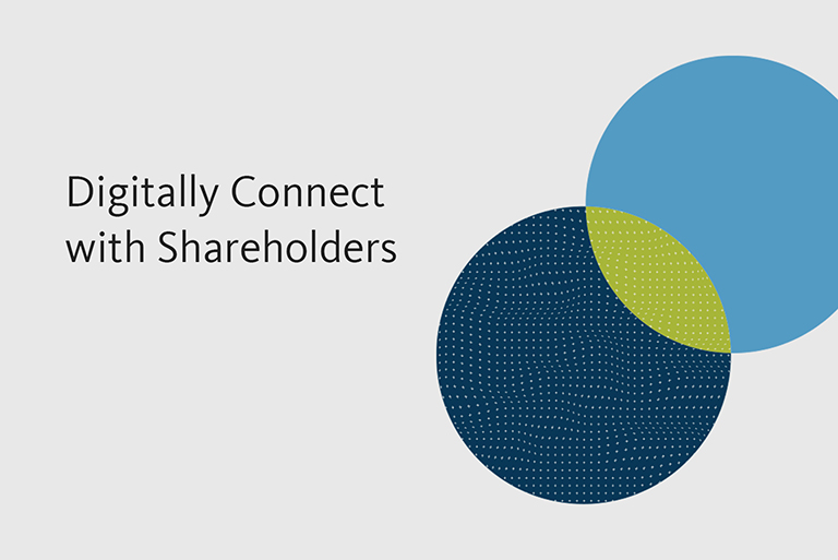 Digitally Connect With Shareholders