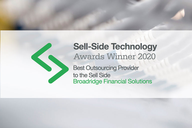 Broadridge Wins Best Outsourcing Provider to the Sell side for the Fifth Consecutive Year