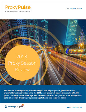 2018 PROXY SEASON REVIEW