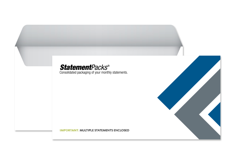 Graphic: StatementPacks® technology reduces postal costs
